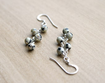 Dalmatian Stone Earrings for Self Expression and Ease of Spirit