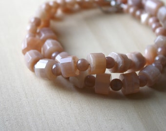 Peach Moonstone Necklace for Emotional Stability and Inspiration