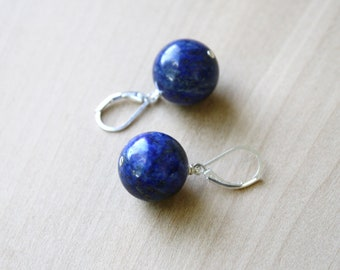 Lapis Lazuli Earrings for Solid Judgement and Speaking your Truth