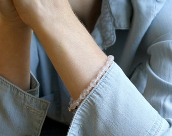 Natural Rose Quartz Bracelet for Unconditional Love NEW