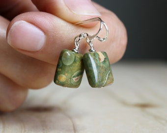 Rhyolite Earrings for Acceptance and Peace of Mind