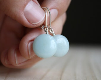 Amazonite Earrings in Sterling Silver for Clarity and Calm NEW