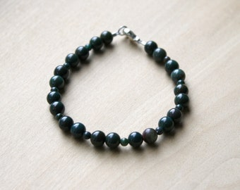 Natural Bloodstone Bracelet for Courage and Protection