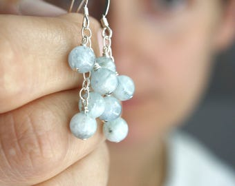 Aquamarine Earrings . March Birthstone Jewelry