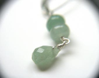 Green Aventurine Earrings for Inner Strength and Calm
