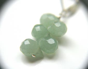 Green Aventurine Earrings . Stones for Creativity