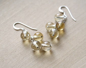 Natural Citrine Earrings for Energy and Positivity