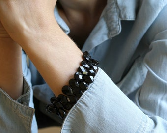 Black Onyx Bracelet for Strength and Positive Energy NEW