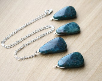 Blue Apatite Necklace for Willpower and Motivation