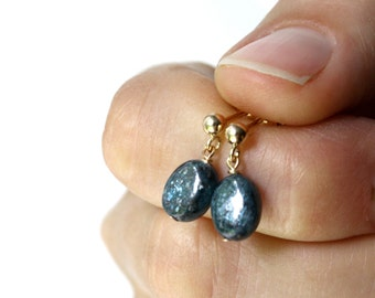 Kyanite Studs Earrings in 14k Gold Fill . Crystals for Meditation