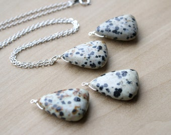 Dalmatian Stone Necklace for Joy and Comfort