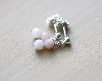 Pink Opal Earrings for Freedom and Independence