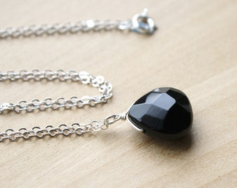 Black Onyx Necklace for Strength and Protection
