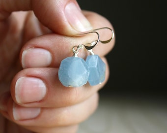 Blue Calcite Earrings for Stress Relief NEW