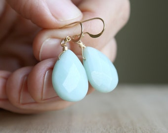 Amazonite Earrings for Clarity and Calm
