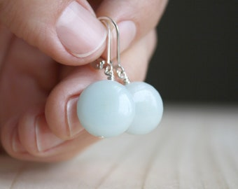 Amazonite Earrings in Sterling Silver for Clarity and Calm