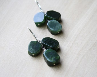 Canadian Jade Earrings for Harmony and Good Luck NEW