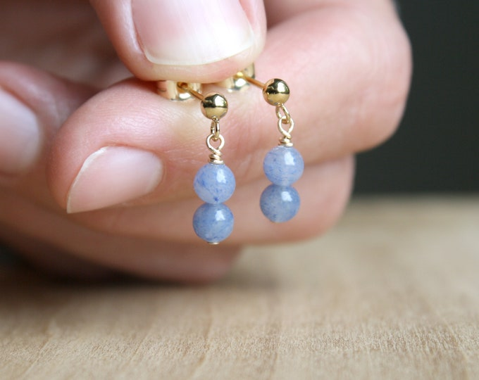 Featured listing image: Blue Aventurine Earrings Studs for Stability and Inner Harmony NEW