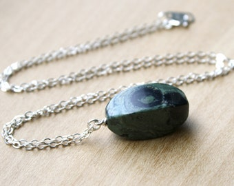 Kambaba Jasper Necklace for Strength and Grounding