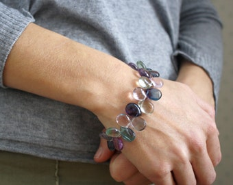 Rainbow Fluorite Bracelet for Clarity and Confidence