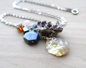 Personal Intention Necklace for Positive Energy and Self Trust