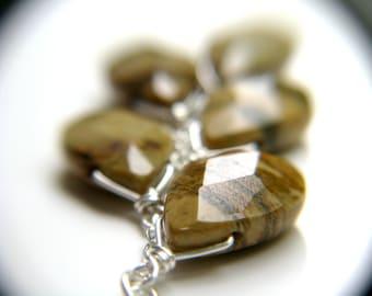 Stones for Protection . Silvermist Jasper Cluster Pendant Necklace
