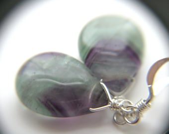 Rainbow Fluorite Earrings NEW