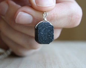 Black Tourmaline Necklace for Protection and Grounding