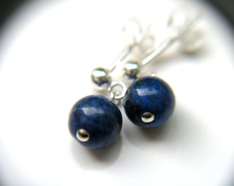 Lapis Lazuli Stud Earrings for Solid Judgement