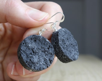 Lava Rock Earrings for Essential Oil Diffusion