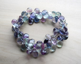 Rainbow Fluorite Necklace for Confidence and Concentration NEW