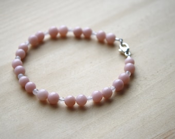 Natural Pink Opal Bracelet for Freedom and Originality