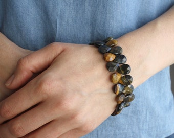 Blue Tiger Eye Bracelet for Balance and Harmony