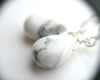 White Howlite Earrings for Calm and an Open Mind