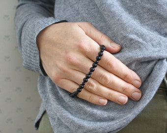 Black Onyx Bracelet for Strength and Support NEW