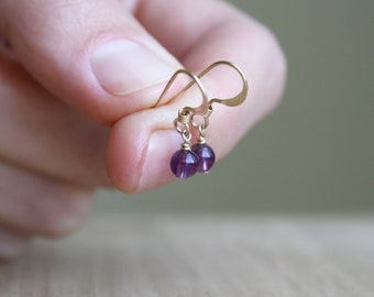 Natural Amethyst Earrings for Protection and Focus