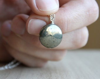 Pyrite Necklace for Protection and Emotional Well-Being