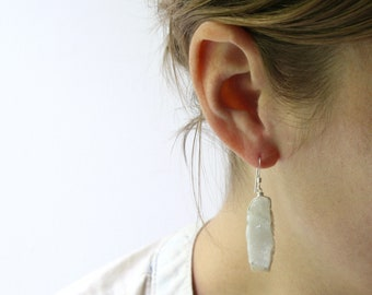 Agate Geode Earrings for Stability and Balance