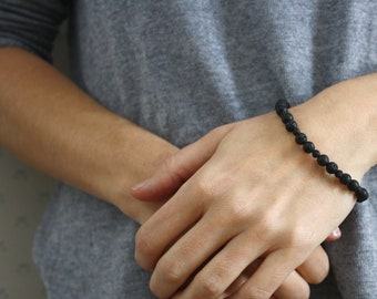 Lava Rock Diffuser Bracelet for Grounding and Calm