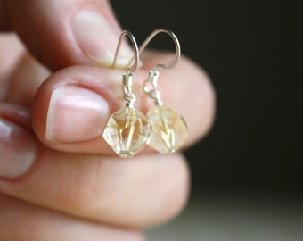 Citrine Earrings in Sterling Silver for Energy and Creativity