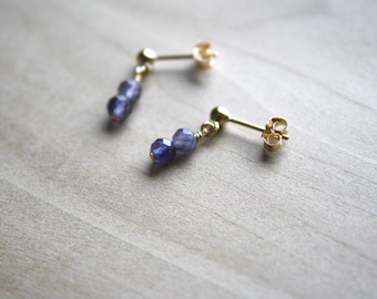 Natural Iolite Earrings for Intuition and Illumination NEW