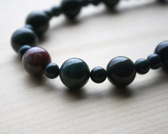 Natural Bloodstone Necklace for Protection and Courage