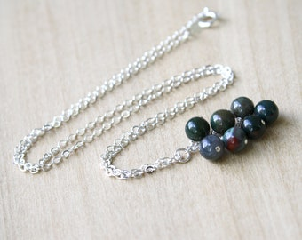 Bloodstone Necklace for Courage and Protection