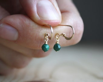 Malachite Earrings for Negative Energy Protection and Transformation NEW