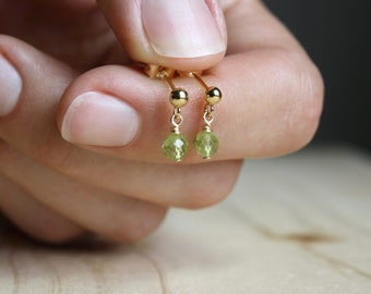 Peridot Studs for Motivation and Cleansing NEW