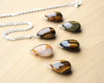 Tiger Eye Necklace for Clear Communication and Decision Making NEW