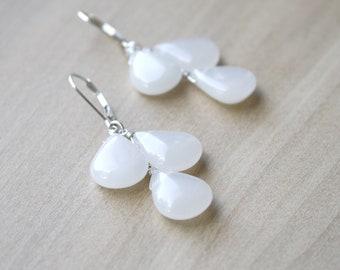 White Quartz Earrings for Energy and Balance NEW