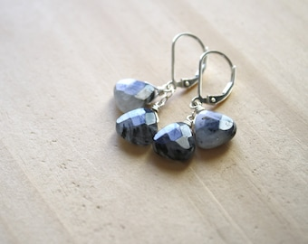 Tourmalinated Quartz Earrings for Balance and Grounding