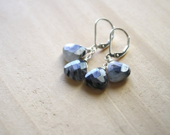 Tourmalinated Quartz Earrings on Sterling Silver Lever Backs
