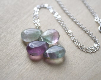 Rainbow Fluorite Necklace for Concentration and Mental Clarity